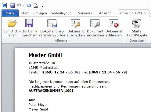 DMS-Modul - Dokumente im Archiv